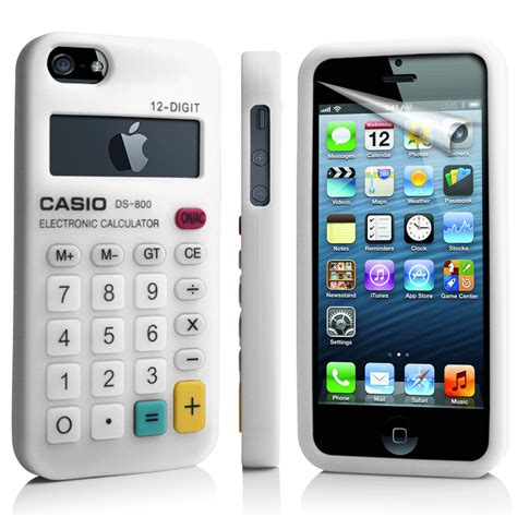 iphone 5g white calculator silicone for apple iphone5 iphone 5