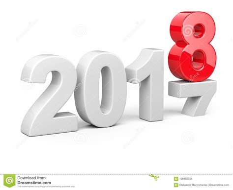 2017 2018 Change Concept Represents The New Year Symbol