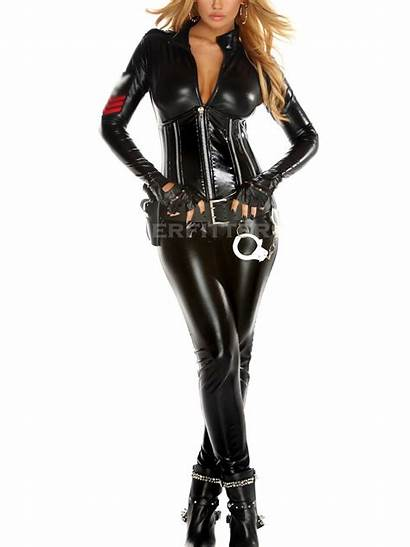 Leather Police Jumpsuit Jumpsuits Womens Wear