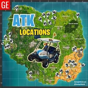 Map Of All ATK Locations In Fortnite Battle Royale Golf