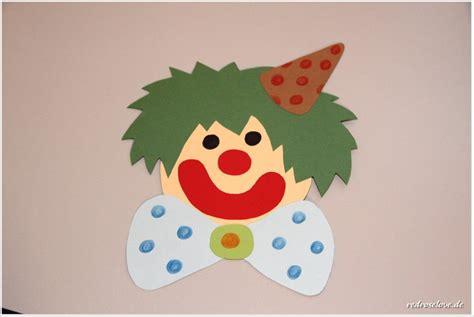 basteln fasching vorlagen clown redroselove mein lifestyleblog