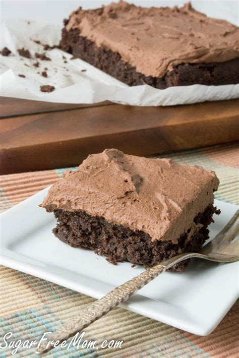 Easy healthy recipes so you can stay on track. Sugar Free Low Carb Chocolate Crazy Cake { Egg Free, Dairy ...