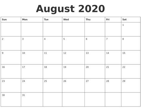october print calendar