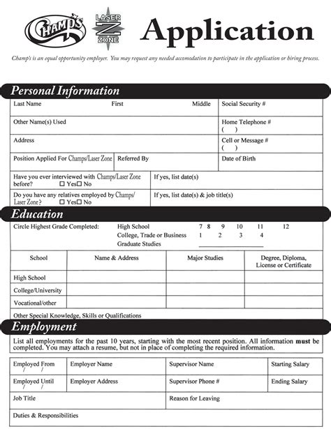applications cuisine employment application maker employment application