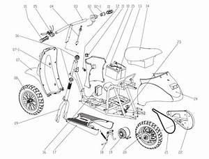 Razor Pocket Mod Vapor Silver Parts