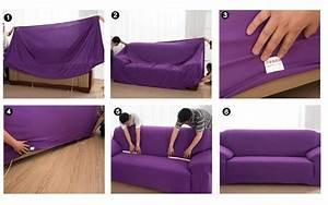 unikea beige vague elastique canape couverture imprimee With tapis moderne avec housse elastique canapé