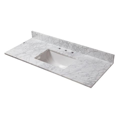 49 double sink vanity top home decorators collection 49 in w marble vanity top in