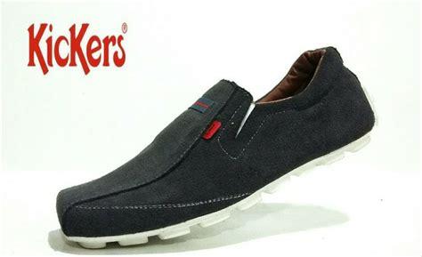 jual sepatu slip on kickers pria sepatu slop casual kulit di lapak creab shop oemed