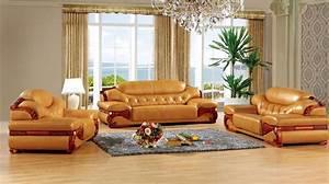 Aliexpress com : Buy antique European leather sofa set