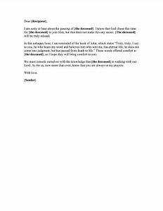 christian condolence letter With religious condolence letters