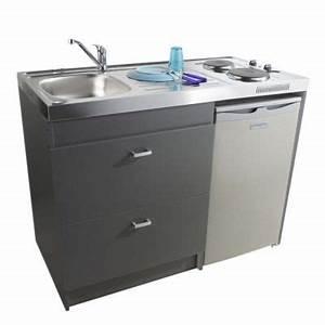 Kitchenette Pour Bureau : kitchenette silver gris castorama ~ Premium-room.com Idées de Décoration