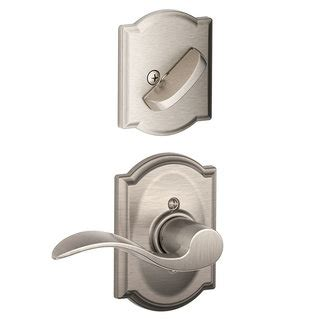 schlage f59 acc 619 satin nickel accent lever and