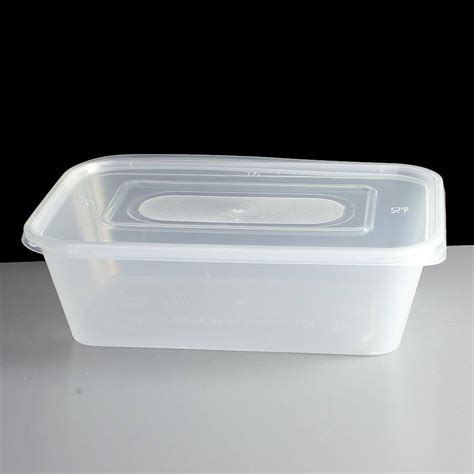 container cuisine 650cc clear rectangular plastic container and lid