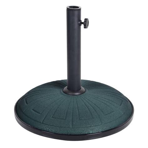 15kg green concrete garden parasol base umbrella stand