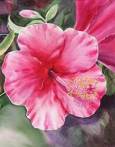 Hibiscus Painting by Irina Sztukowski