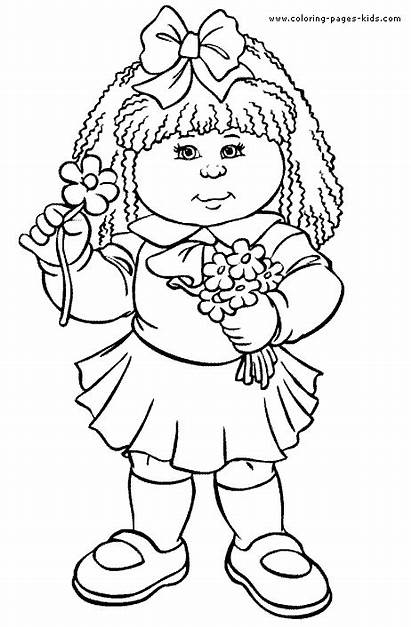 Coloring Pages Cabbage Patch Cartoon Colouring Printable