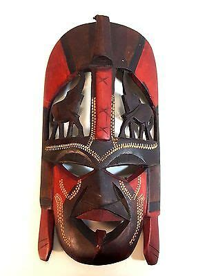 wall hanging hand carved wood mask  kenya