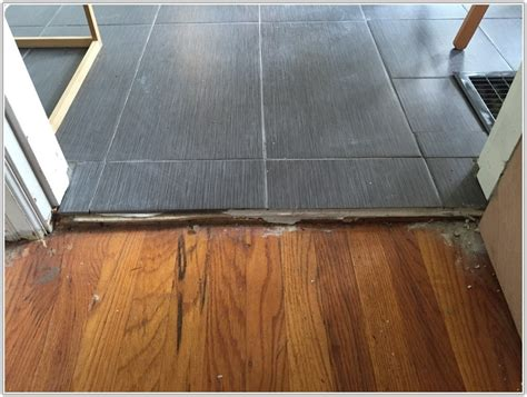floor transition tile to wood wood floor to tile transition tiles home decorating