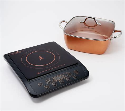 copper chef  induction cooktop   casserole  piece set ebay