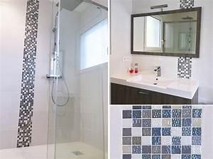 Salle D Eau Mosaique. salle d 39 eau douche italienne frise mosaique ...