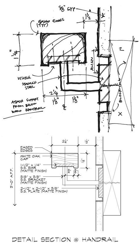 Drawing like an Architect   DETAIL DRAWINGS   Staircase