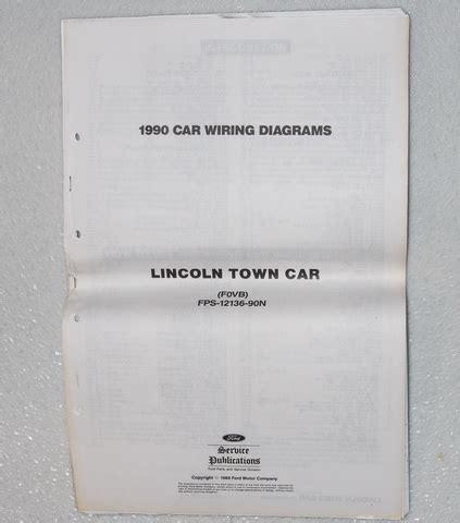 Lincoln Town Car Electrical Wiring Diagrams Original