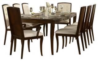 9 Dining Room Set Homelegance Abramo 9 Rectangular Dining Room Set In Walnut Traditional Dining Sets