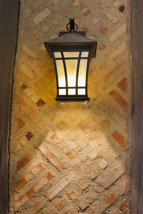 craftsman style exterior lamp  exterior wall stock photo image  style glass