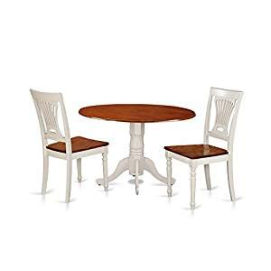 amazon small kitchen table and chairs amazon com east west furniture dlpl3 bmk w 3 piece dining