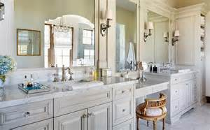 gray bathroom vanity with french pink seat stool
