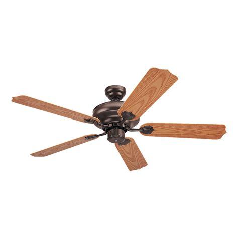 long downrod ceiling fan shop sea gull lighting long beach 52 in bronze downrod or