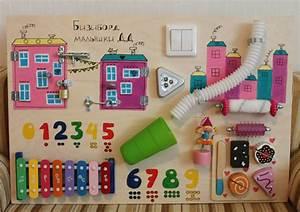 Busy Board Baby girl Activity Board Sensory by ...