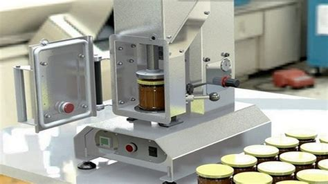 glass jar semi automatic vacuum capping machines vacuum capper equipment  glass bottles youtube