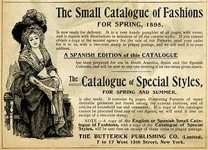 Catalogue of Fashions Ad | Old Design Shop Blog