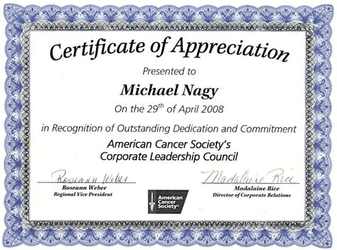 free certifications editable certificate of appreciation template exle