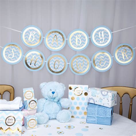 pattern works bunting baby shower blue shop