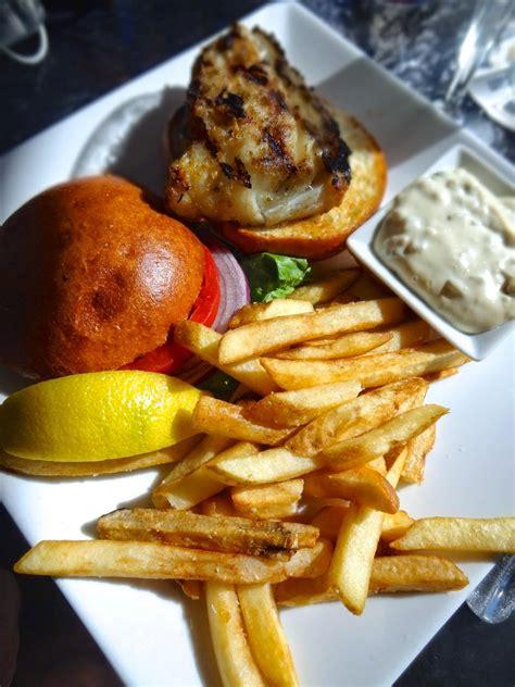 waterfront grouper sandwich grilled sauce tartar maria anna restaurant fries island frites