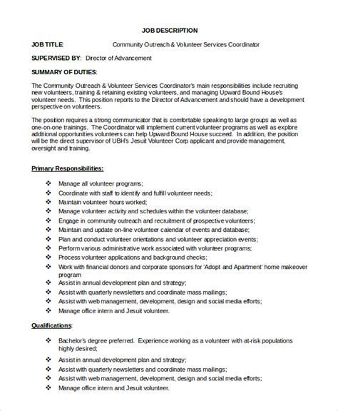 sle program coordinator description 9 exles
