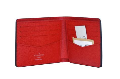 Louis Vuitton X Supreme Slender Red Epi Wallet New At 1stdibs