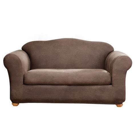 Leather Loveseat Slipcover by Sure Fit Stretch Faux Leather Two Sofa Slipcover