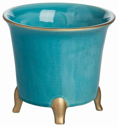 Pots Indoor Planters Gold Turquoise Traditional Plants