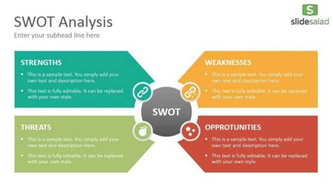 swot analysis diagrams powerpoint  template