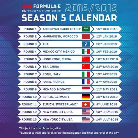 formula fia released details calendar racing