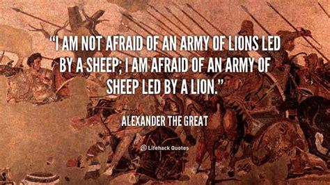 afraid   army  lions led   sheep