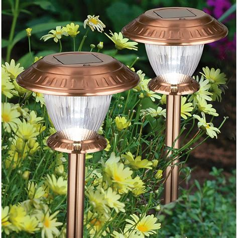 12 pk inwood ii brushed copper solar lights 426764
