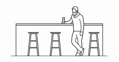Bars Dimensions Bar Guide Counter Drawing Drawings