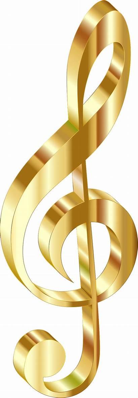 Gold Background 3d Clef Clipart Transparent Sign