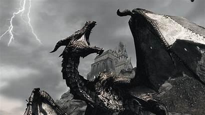 Dragon Skyrim Wallpapers Desktop 1080p Mods Se