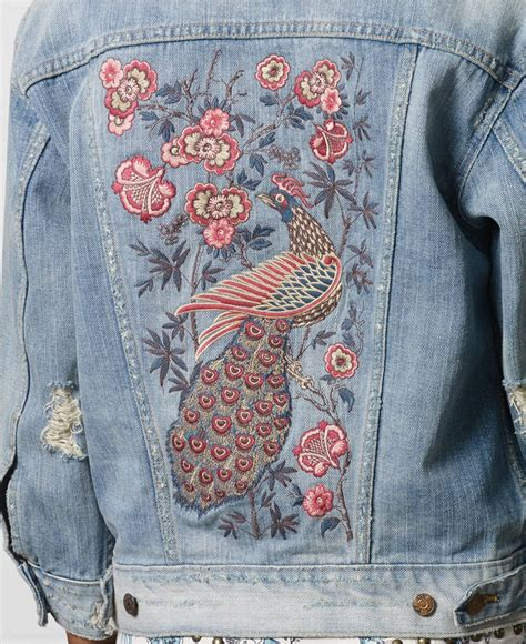denim supply ralph lauren destructed embroidered denim