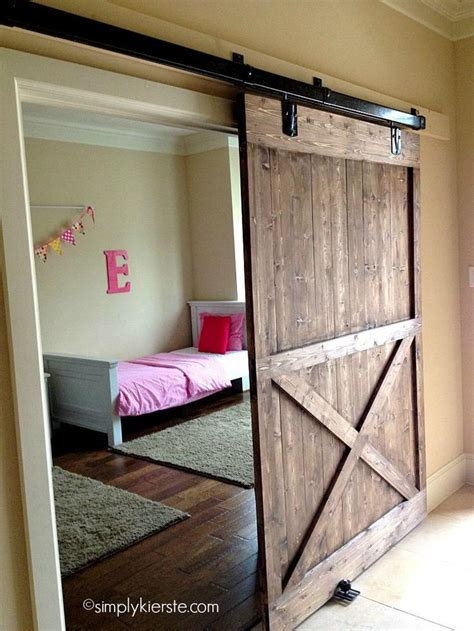 how to make a barn door build your own sliding door woodworking projects plans